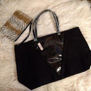 Victoria secret tote and cosmetic bag